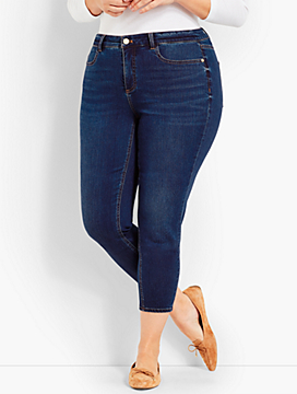 Womans Exclusive Luxe Stretch Denim Jegging Crop-Saratoga Wash