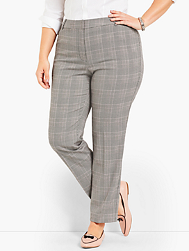 Womans Exclusive Talbots Hampshire Straight Ankle - Glen Plaid