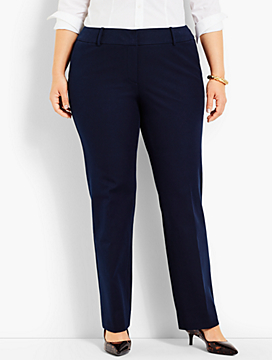 Womans Exclusive Cotton Bi-Stretch Straight-Leg Pant
