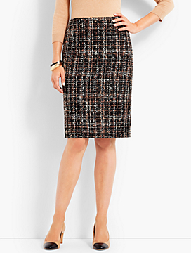 Parisian Tweed Pencil Skirt