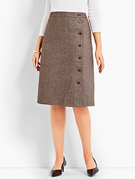 Donegal Tweed A-Line Skirt