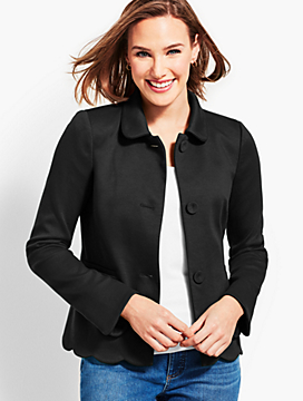 Scallop Ponte Jacket