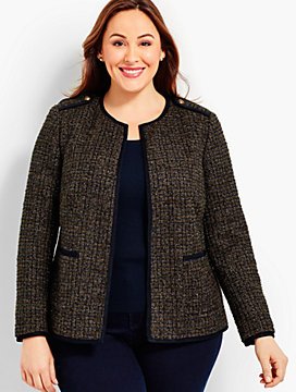 Sparkle Tweed Boucle Jacket