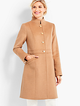 Military-Style Stand-Collar Coat