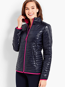 Quilted Cire Primaloft(R) Jacket