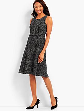 Sleeveless Berkeley Tweed Fit & Flare Dress