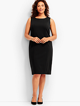 Luxe Knit Sleeveless Sheath Dress