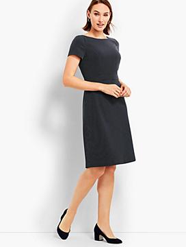 Textured Dot A-Line Dress