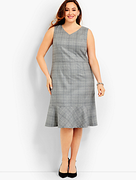 Glen Plaid Dress