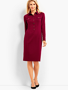 Refined Ponte Shirtdress