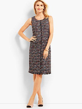 Fringed Festive Tweed Sheath