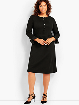 Flounce Sleeve Ponte Dress