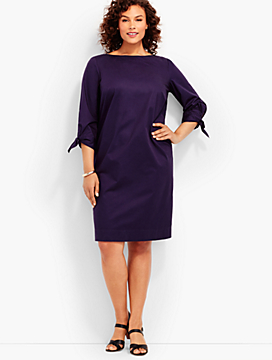 Tie-Sleeve Sheath Dress