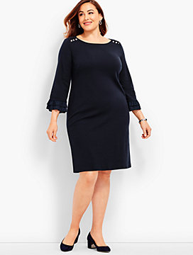 Womans Exclusive Ruffle-Sleeve Dress