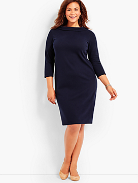Audrey Bold Ottoman Shift Dress