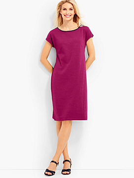 Slub Jersey Shift Dress