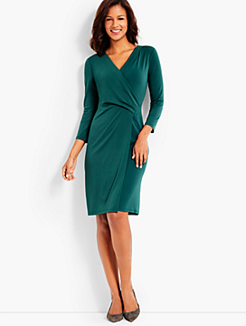 Bella Faux-Wrap Sheath Dress