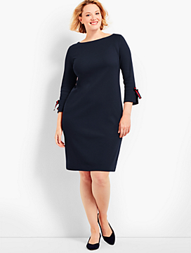 Three-Quarter-Sleeve Interlock Dress