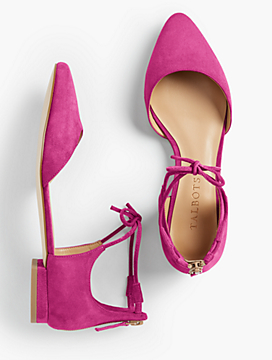Edison Tie-Ankle D'Orsay Flats