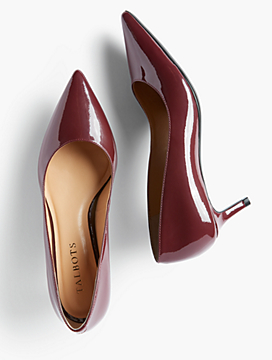 Erica Kitten-Heel Pumps - Patent Leather