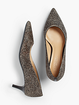 Erica Kitten-Heel Pump - Spotted Haircalf