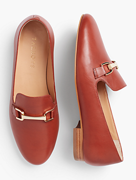 Frannie Burnished Leather Flats