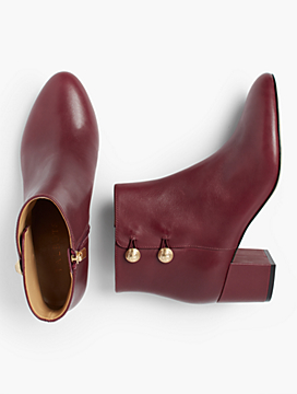 Maud Modern Calf Button Booties