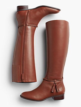 Tish Braid & Tassel Riding Boots