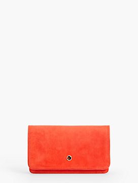 Suede Accordion Clutch