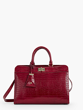 Exclusive Anniversary Collection Croc-Embossed Statement Bag