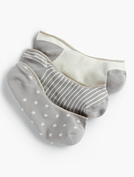 Stars, Stripes & Dots No-Show Ankle Socks - 3-pack