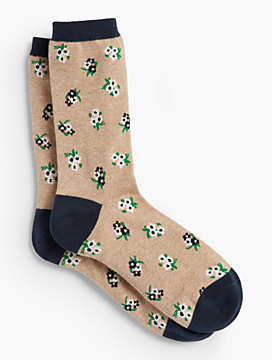 Bunches of Floral Trouser Sock