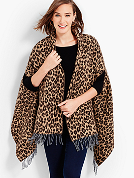 Side-Slit Animal-Print Wrap