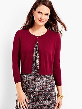 Button-Top Dress Shrug