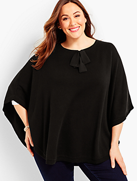 Womans Satin Bow Poncho