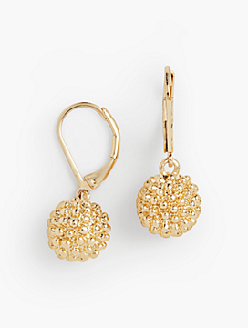 Textured Bead-Drop Earrings