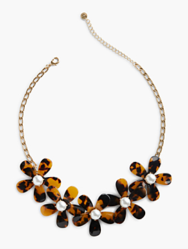 Tortoiseshell Flower Necklace