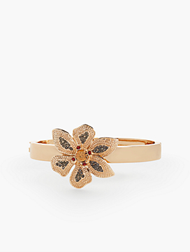 Pavé Flower Bangle