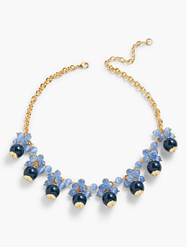 Bead-Drop Cluster Necklace