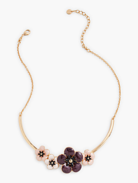 Enamel Flower Collar Necklace