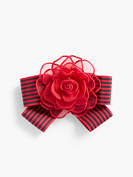 Striped-Ribbon Flower Corsage