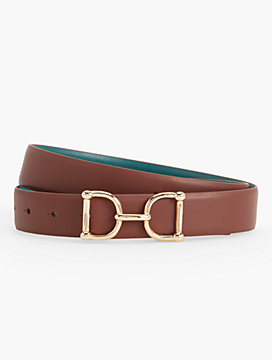 Womans Reversible Leather Belt