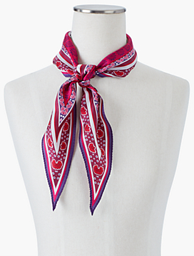 Paisley & Flowers Silk Diamond-Shaped Scarf