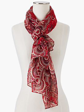 Moonlight Paisley Scarf