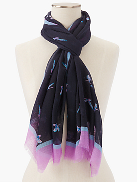 Fringed Flying Bird Scarf