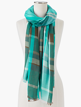 Fringed Hearth Plaid Scarf