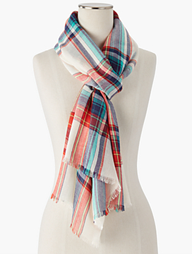 Windowpane Plaid Scarf