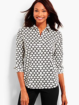 The Perfect Long-Sleeve Shirt - Lattice