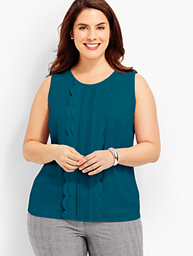 Back-Tie, Scallops & Pintucks Shell