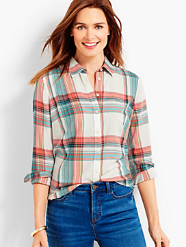The Classic Casual Shirt - Dune Plaid